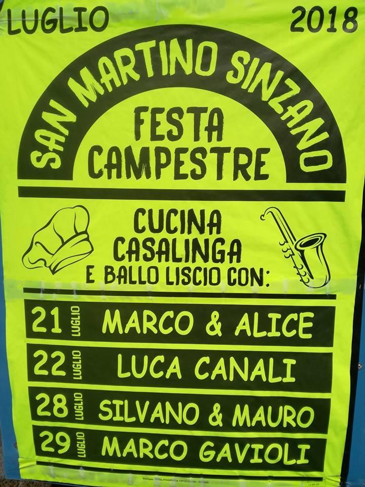 Festa campestre a San Martino Sinzano