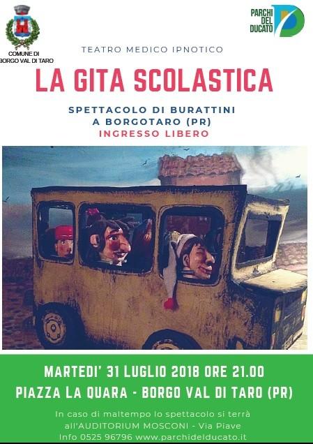 """""""La gita scolastica"""": burattini delTeatro Medico Ipnotico a Borgotaro"""