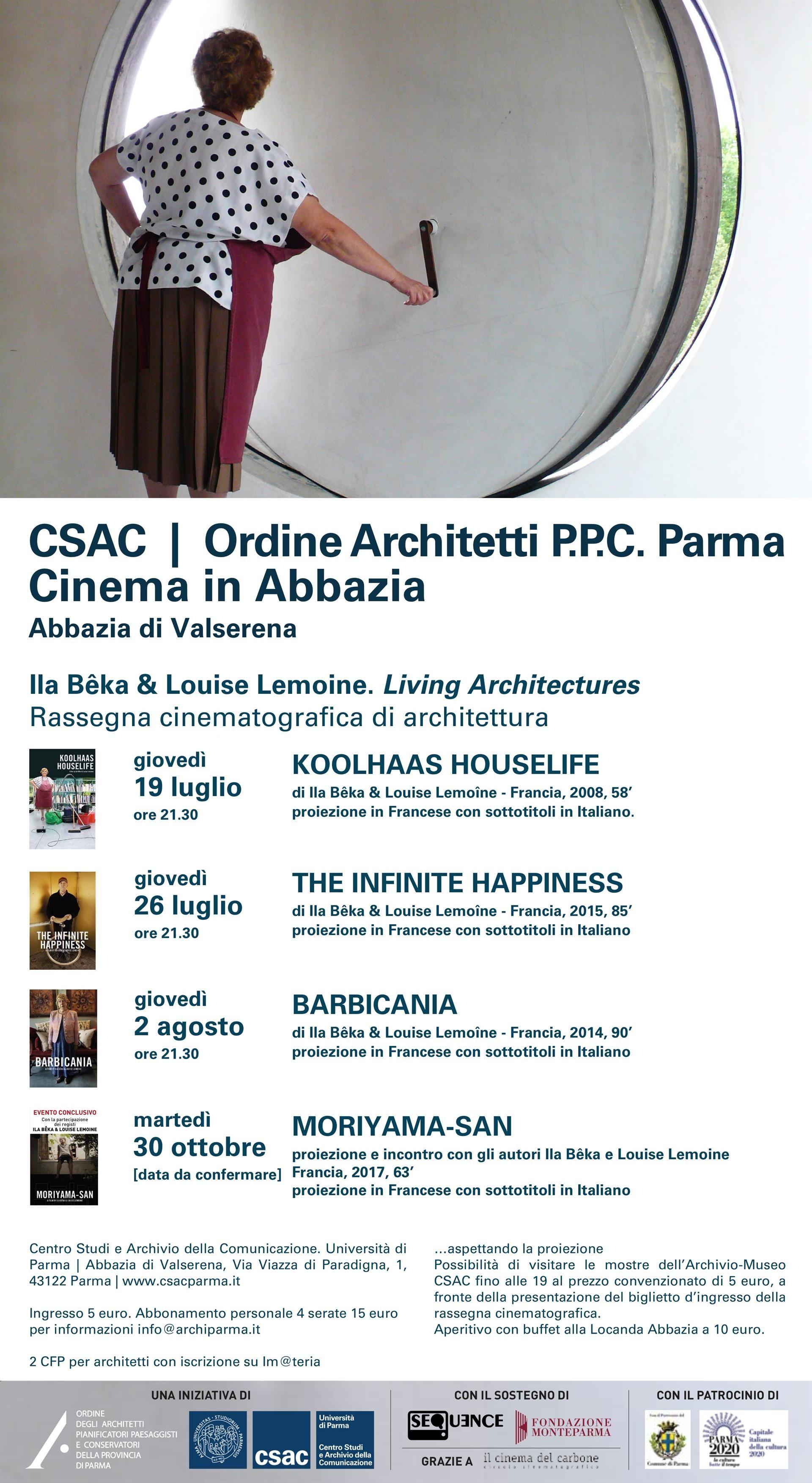 Cinema e Architettura. Living Architectures    The Infinite Happiness