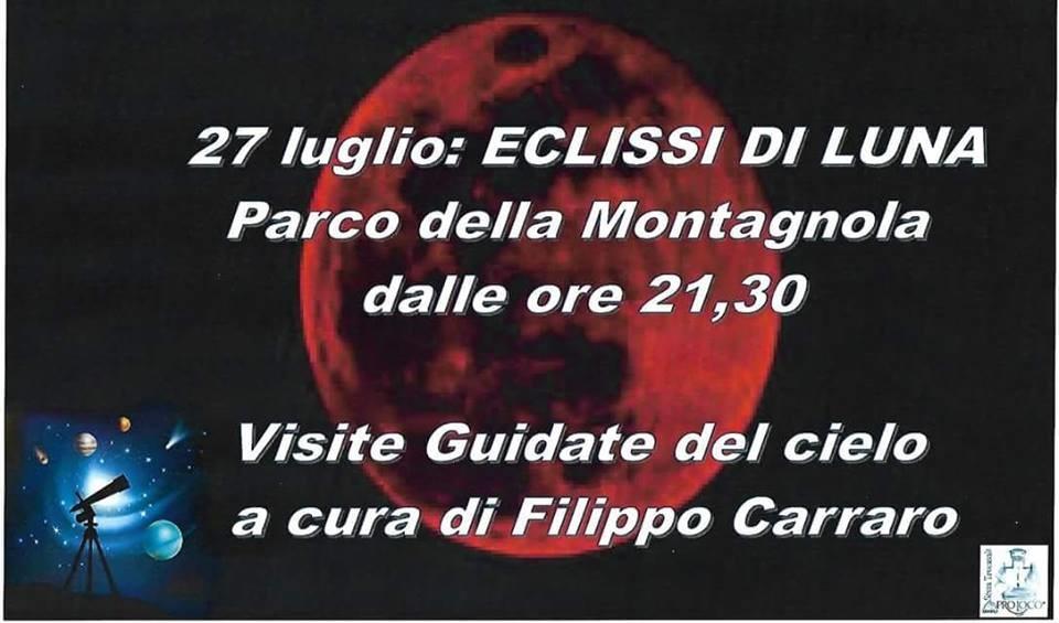 Eclissi di luna: Filippo Carraro ci guiderà fra stelle e pianeti mettendo a disposizione un telescopio professionale