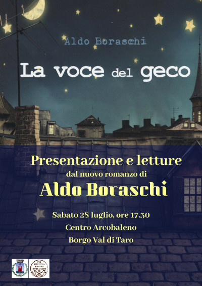 """Aldo Boraschi torna a Borgotaro con il suo ultimo libro, il romanzo """"La voce del geco"""""""