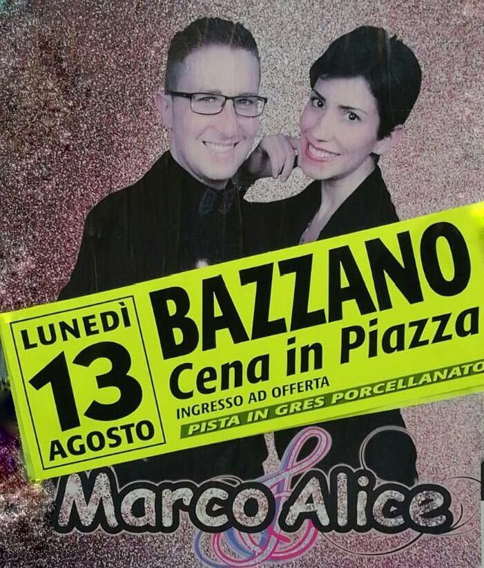 Cena in piazza e ballo a Bazzano