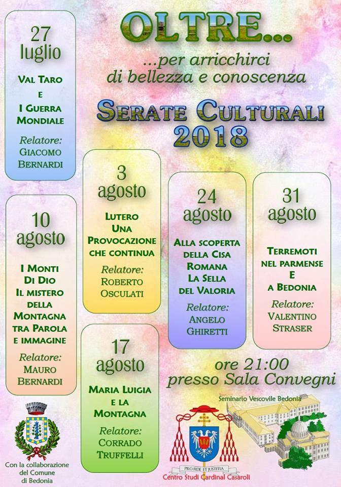 Serate culturali al Seminario Vescovile Di Bedonia