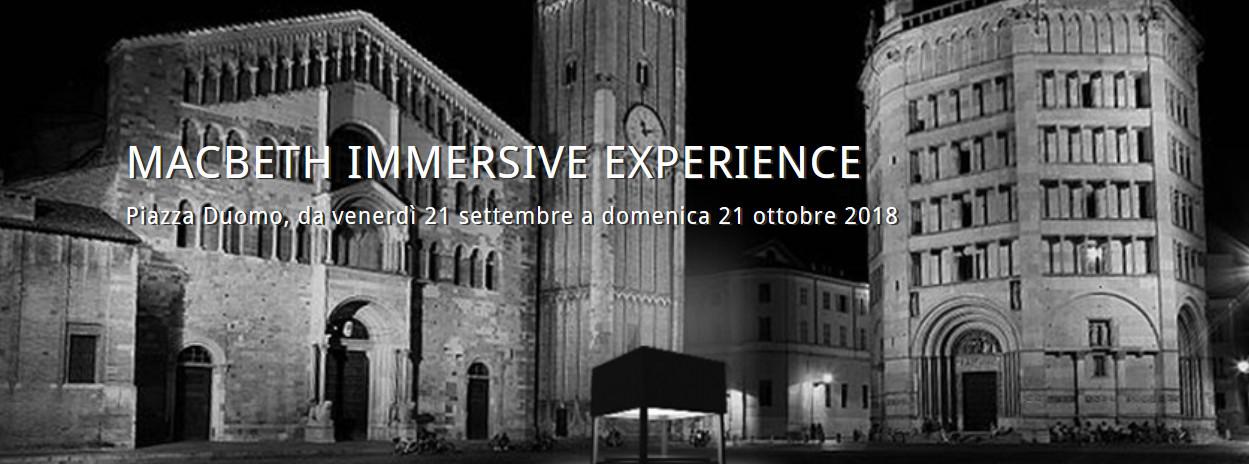 MACBETH IMMERSIVE EXPERIENCE  Installazione multimediale   per Verdi Off