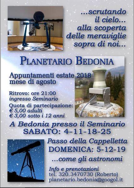 Scrutando il cielo  al Planetario di Bedonia