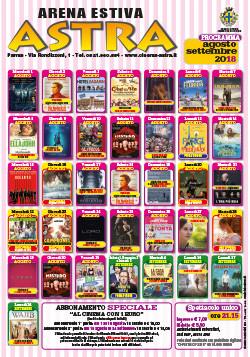 Arena estiva Astra Cinema programma agosto e settembre