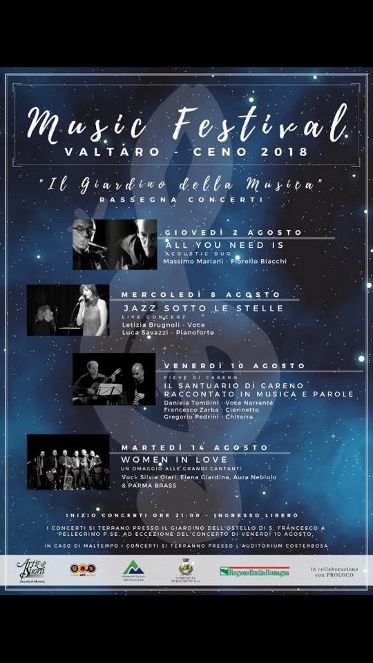 Music Festival Valtaro Ceno 2018 a Pellegrino Parmense.