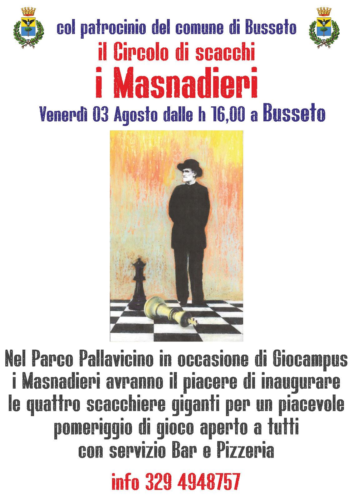 Inaugurazione scacchiere giganti a Busseto