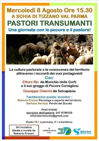 Pastori Transumanti: Mercoledì 8 Agosto a Schia