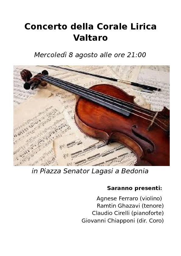 Concerto  della Corale Lirica Valtaro