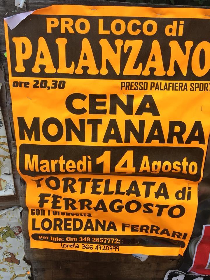 Cena montanara a Palanzano