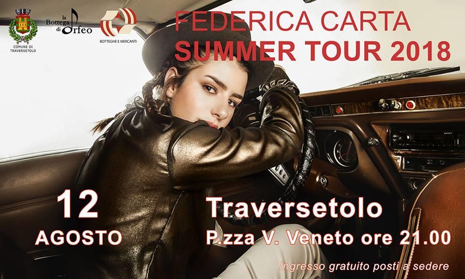 Federica Carta summer tour a Traversetolo