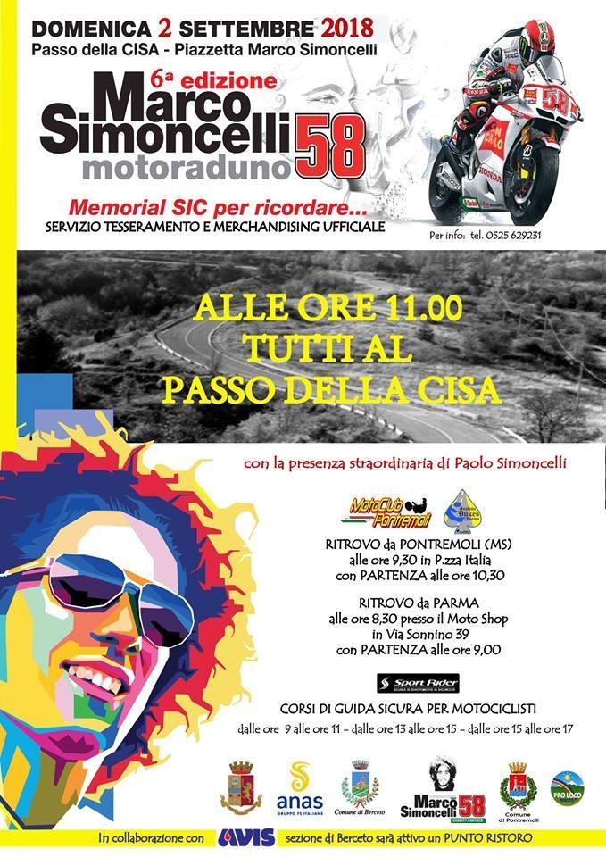 Sesto raduno motociclistico in onore Di Marco Simoncelli