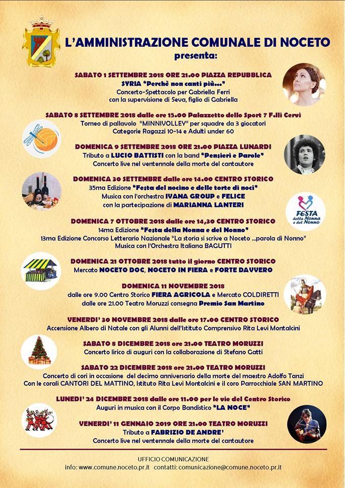 Eventi a Noceto settembre - gennaio