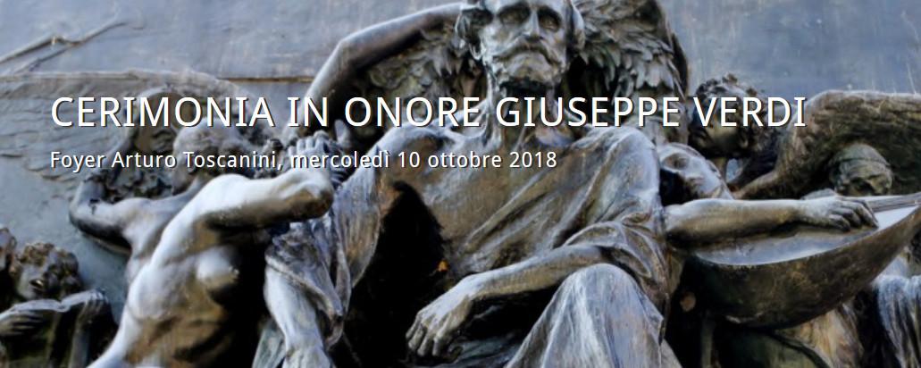 Cerimonia in onore di Giuseppe Verdi