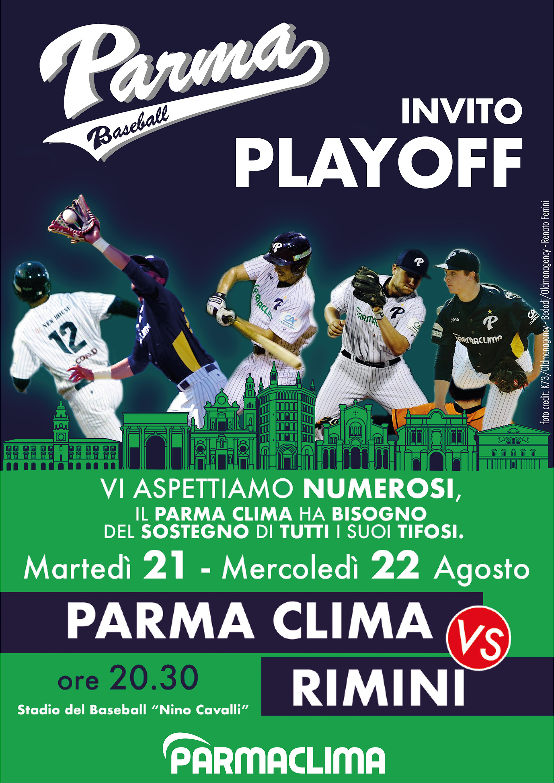Play-off baseball:  Parma Clima vs Rimini
