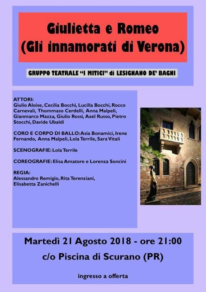 """""""Giulietta e Romeo"""" a Scurano"""