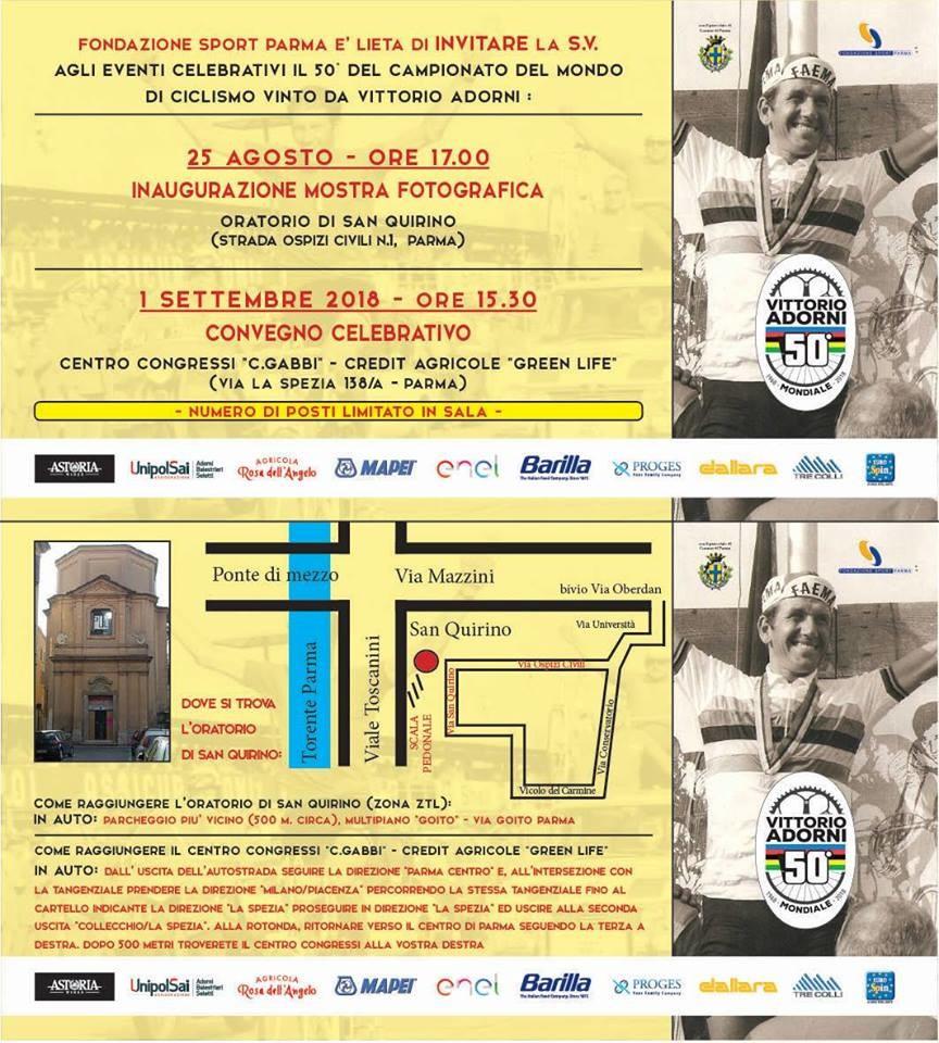 Cinquantenario Mondiale Vittorio Adorni, mostra fotografica