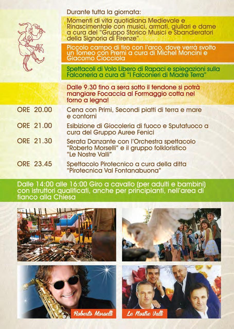 Fiera Millenaria di San Terenziano programma serale del 2 settembre