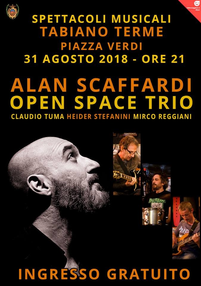 ALAN SCAFFARDI e gli OPEN SPACE TRIO in concerto a Tabiano
