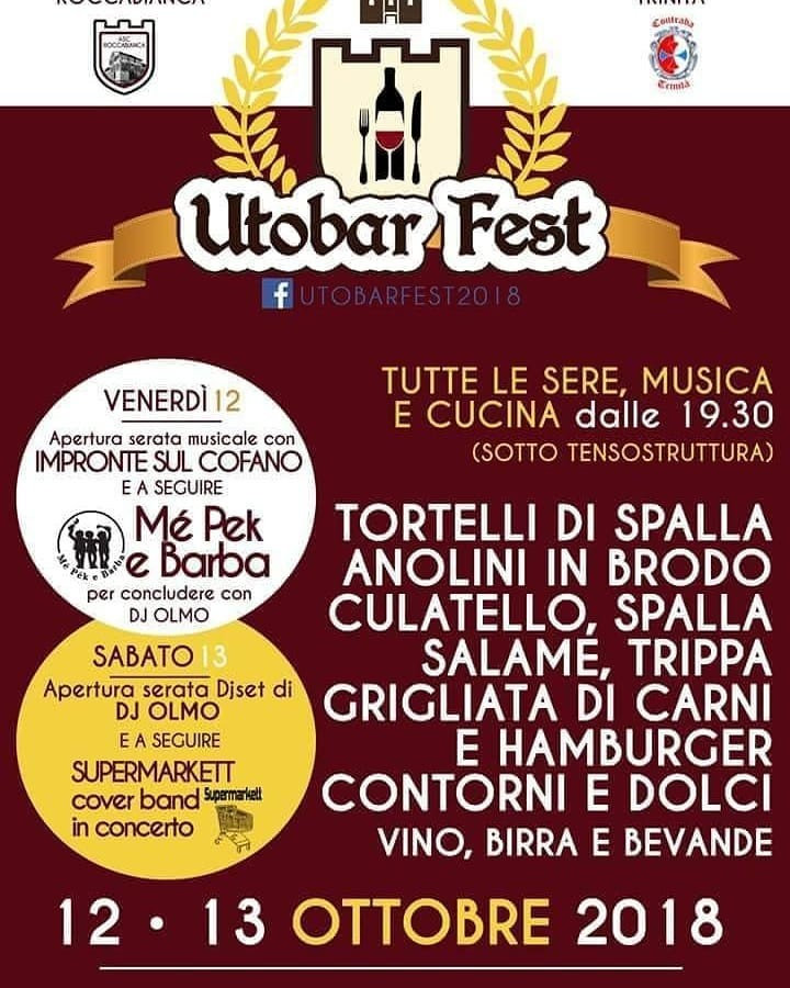 UTOBAR FEST a Roccabianca!