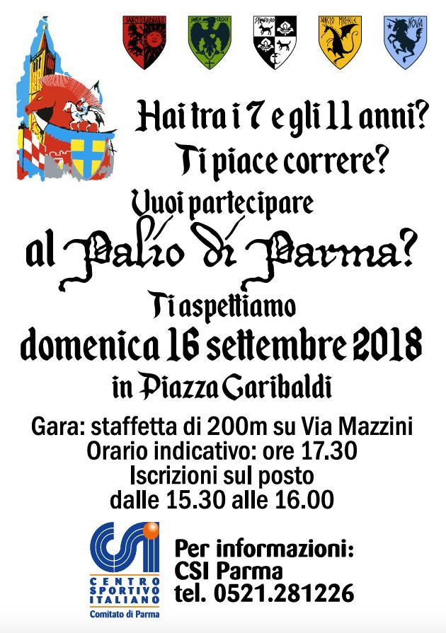 Al Palio di Parma staffetta per ragazzi