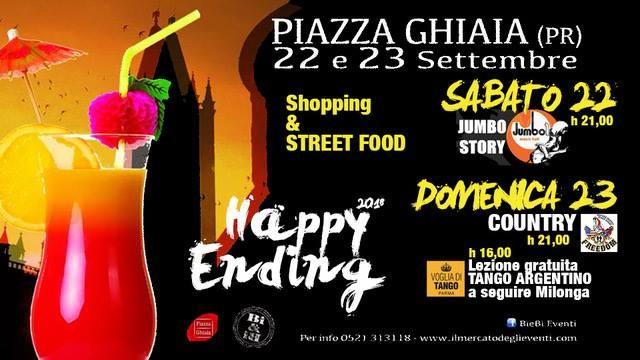 Happy Ending 2018 - Salutiamo l'estate in piazza Ghiaia