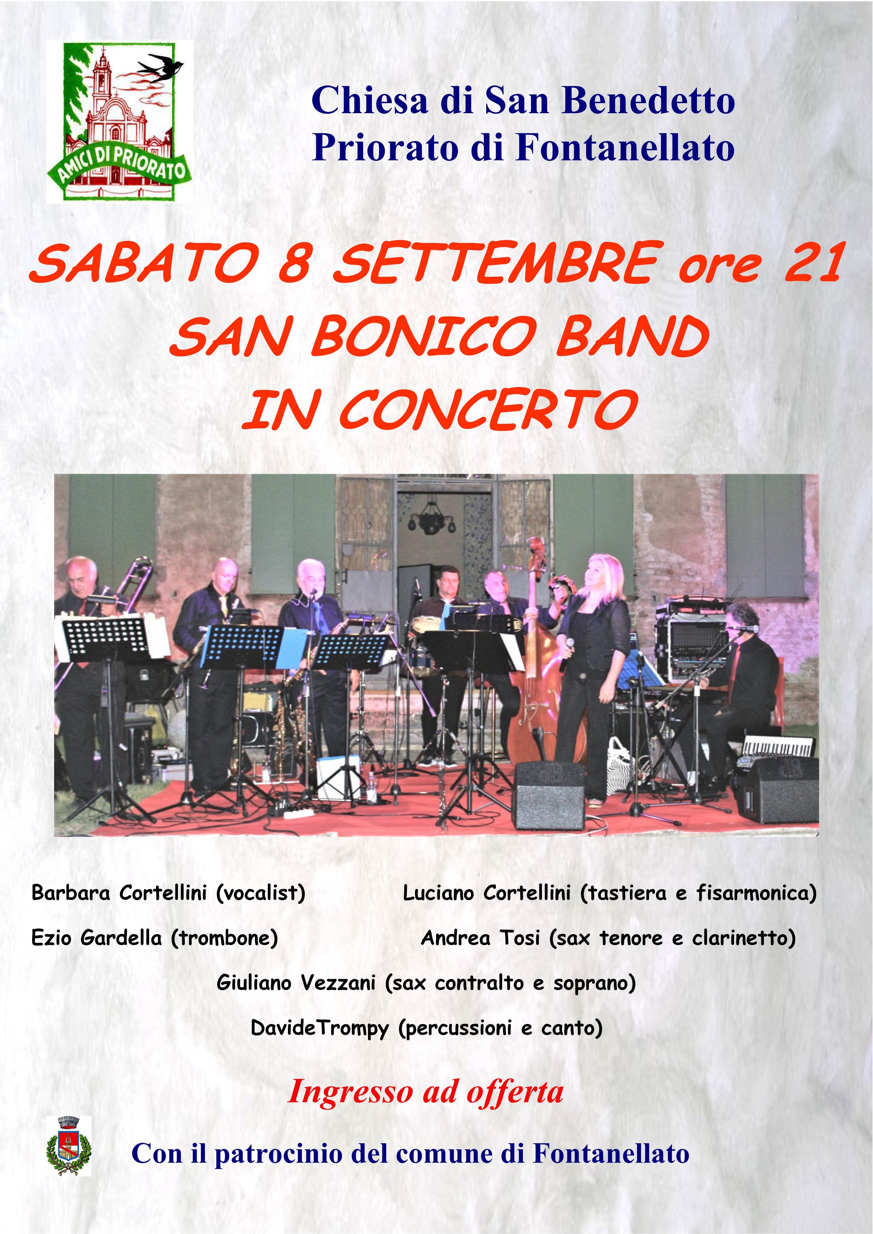 Concerto della San Bonico Band  a Priorato