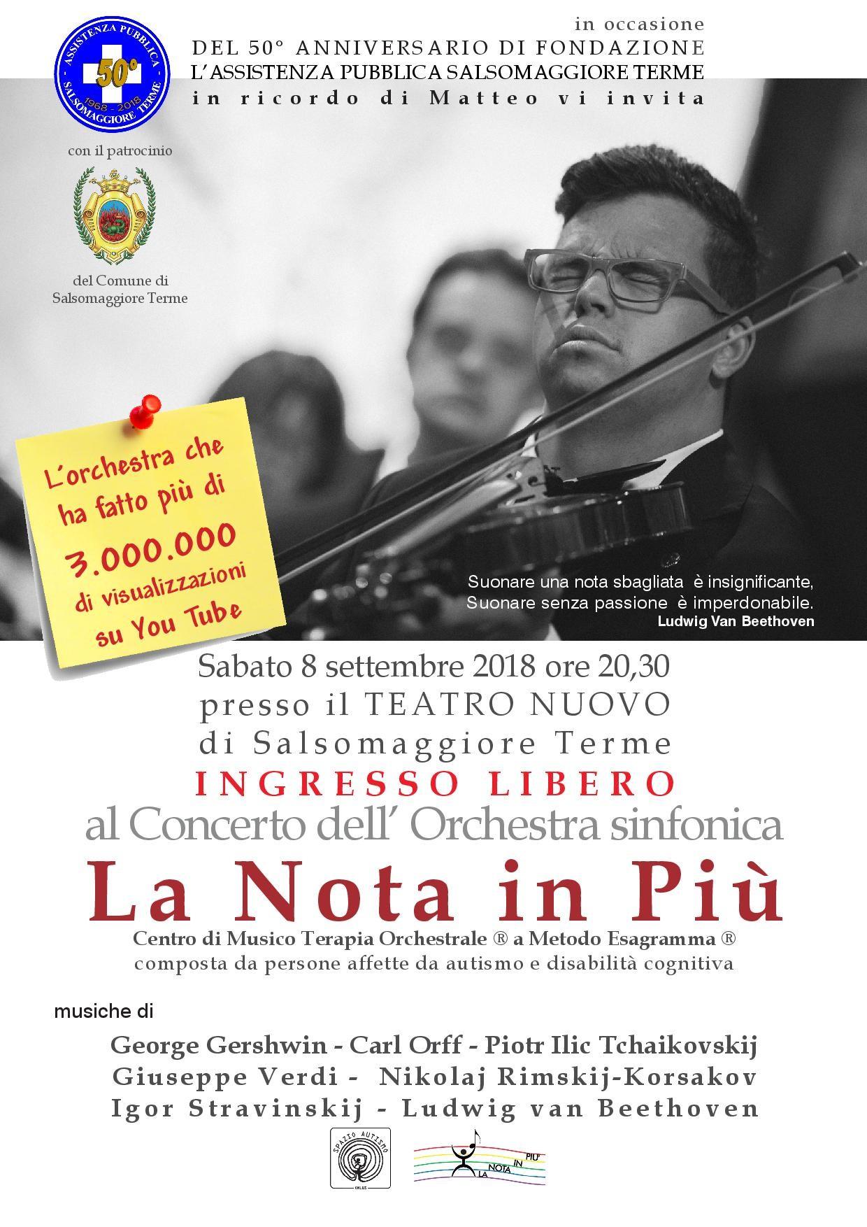 """Concerto dell'Orchestra Sinfonica """"La Nota in più"""""""