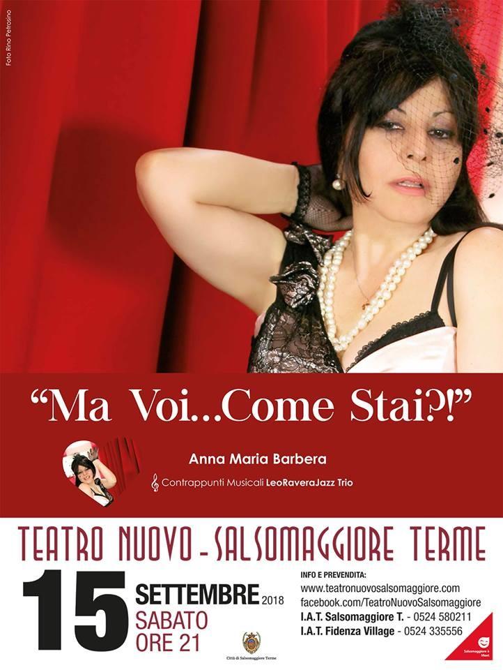 """""""Ma voi... come stai?"""" con Anna Maria Barbera al Teatro Nuovo"""