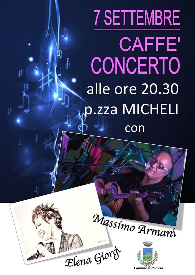 Caffè concerto in piazza Micheli a Berceto