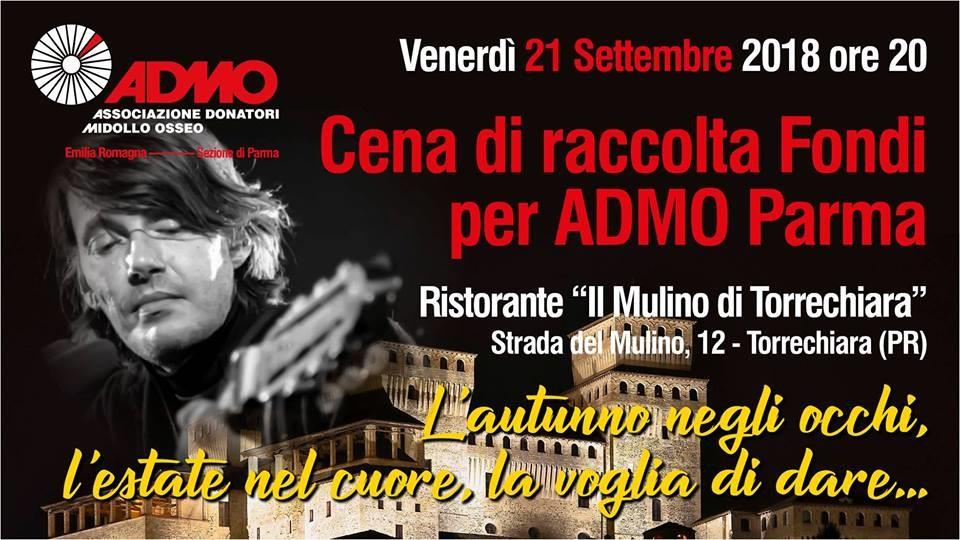 Cena Benefica in favore di ADMO Parma al Mulino di Torrechiara