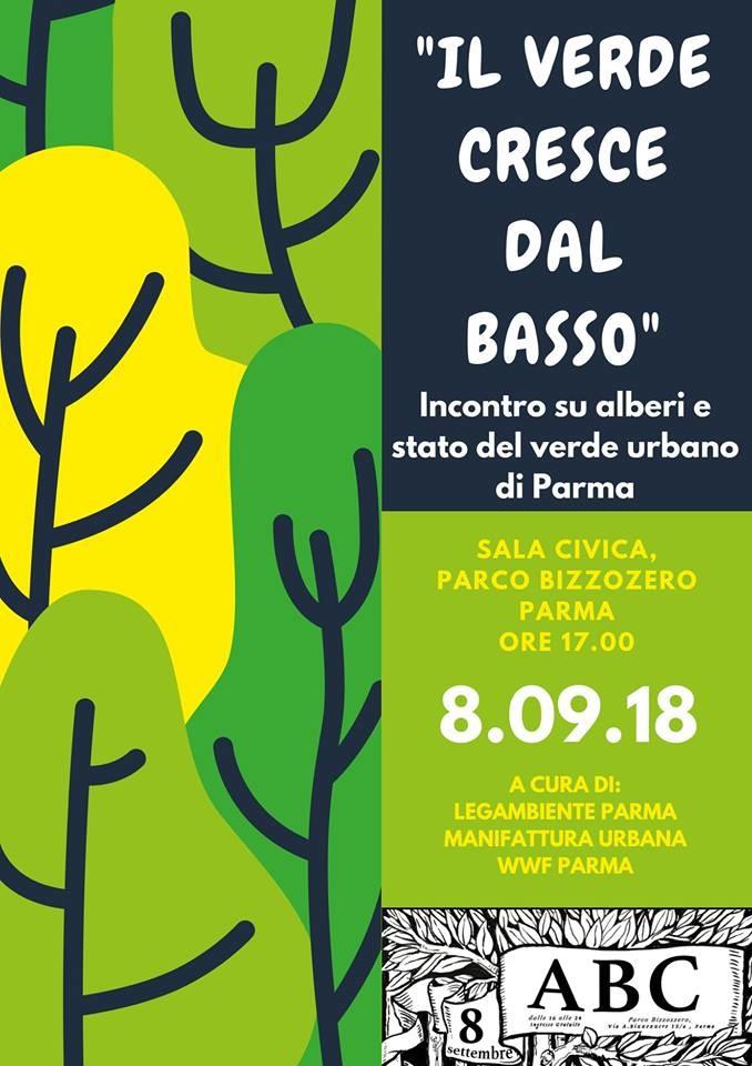 Incontro su alberi e verde urbano di Parma