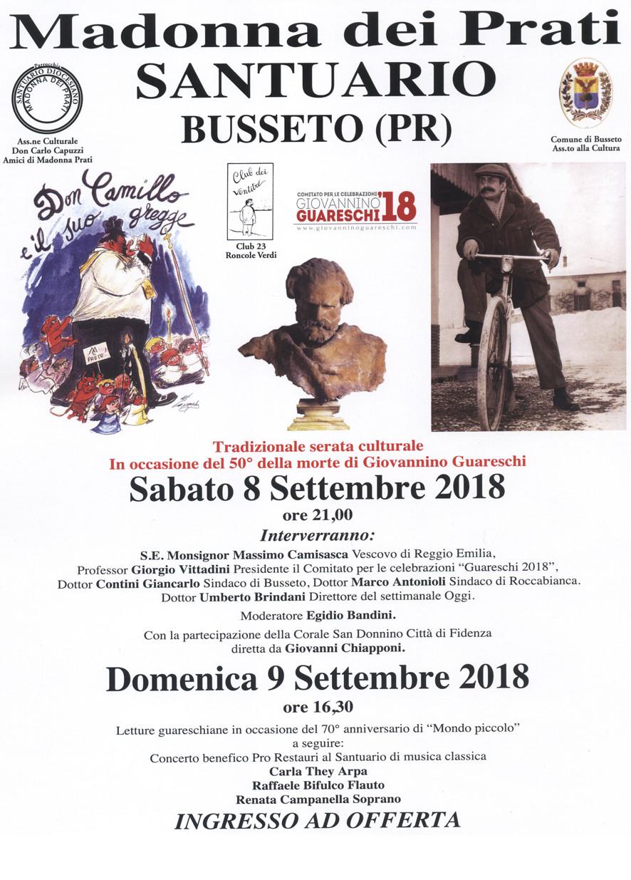 Al Santuario della Madonna dei Prati giornate dedicate a Giovannino Guareschi e Giuseppe Verdi