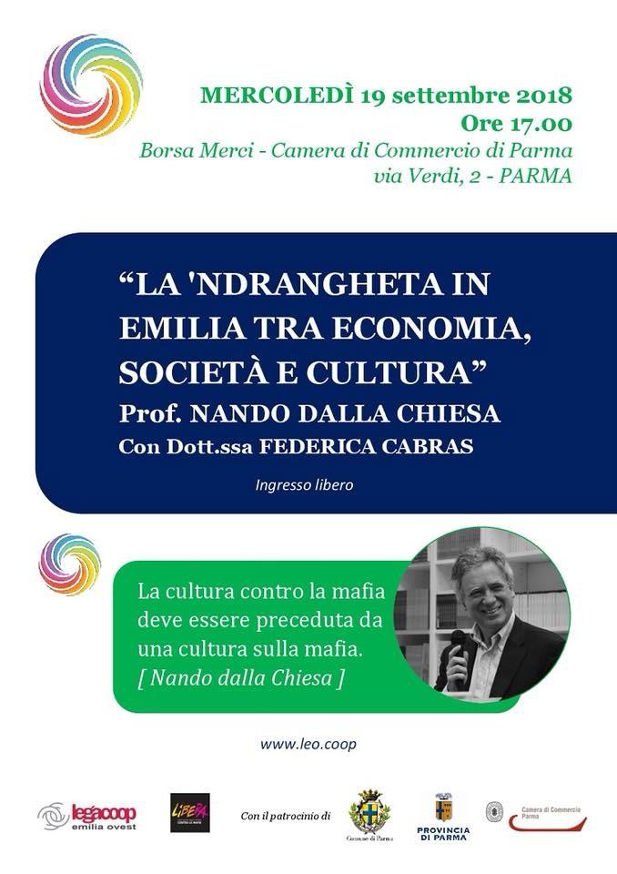 """""""La 'ndrangheta in Emilia tra economia, società e cultura"""" con NANDO DALLA CHIESA"""