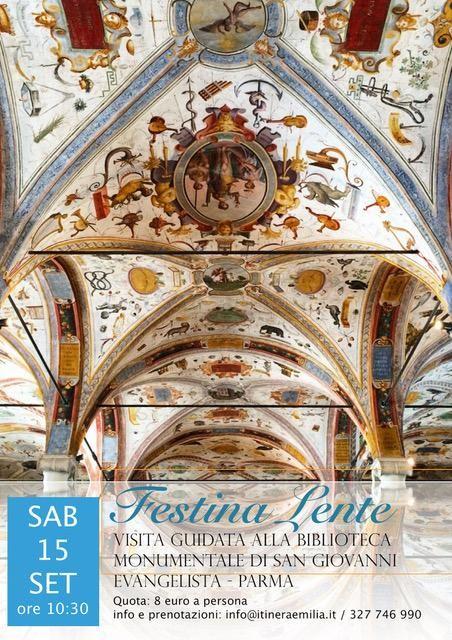 Festina Lente visita guidata alla Biblioteca monumentale di San Giovanni