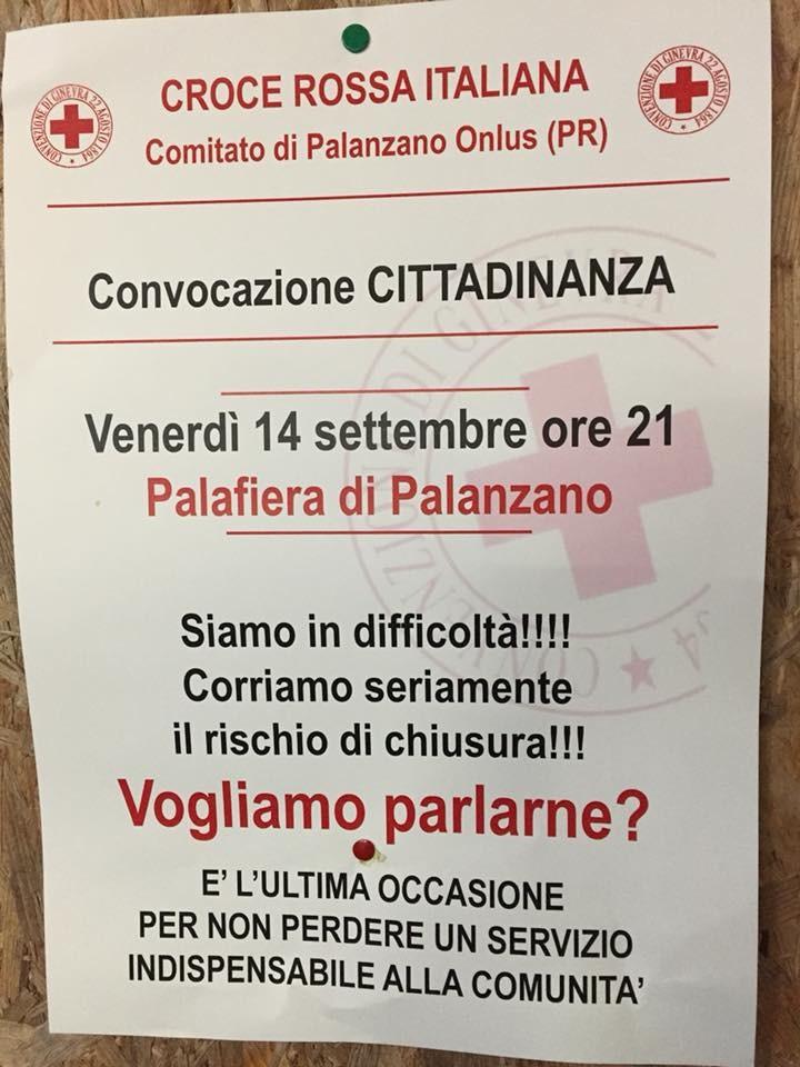La Croce Rossa di Palanzano è in difficoltà, che fare?