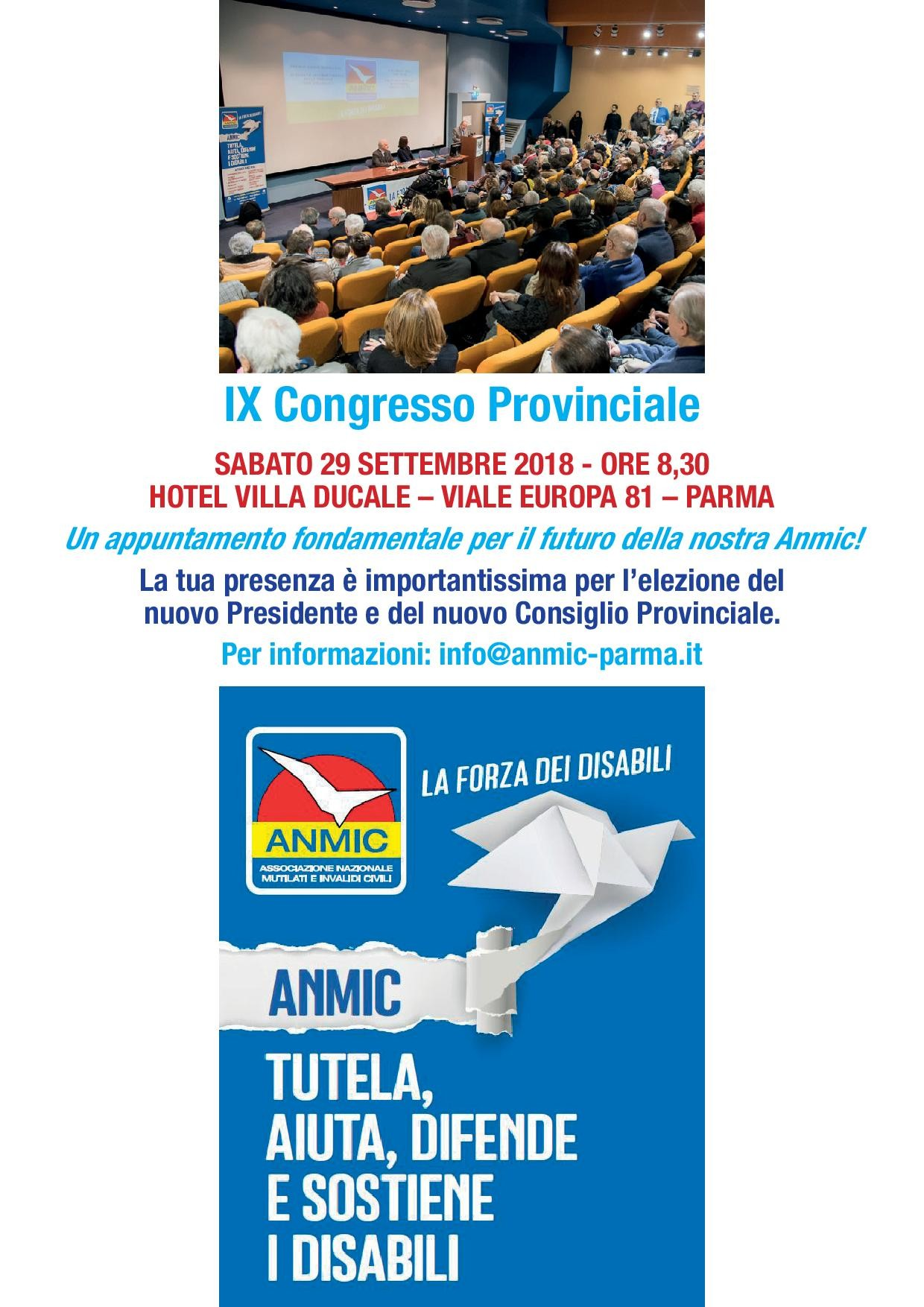 IX Congresso Provinciale Anmic