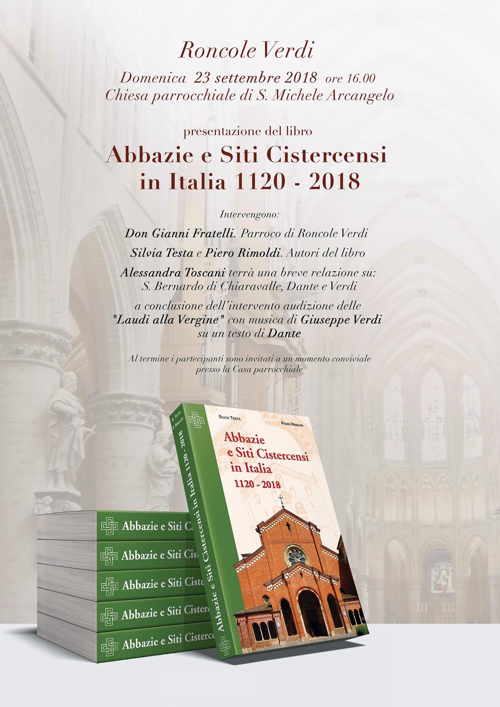 """Presentazione del libro """"Abbazie  e Siti Cistercensi"""""""