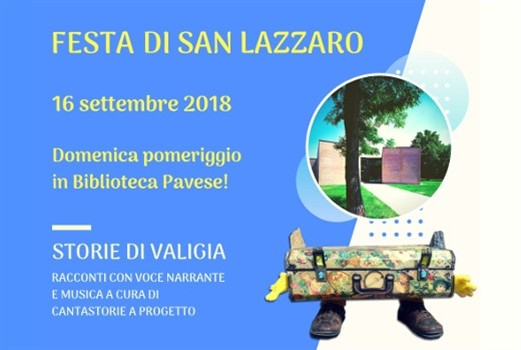 Storie di Valigia - Sagra di San Lazzaro in biblioteca Pavese!