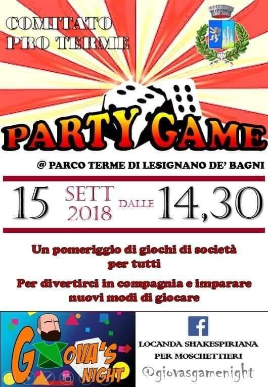 Party game a Lesignano