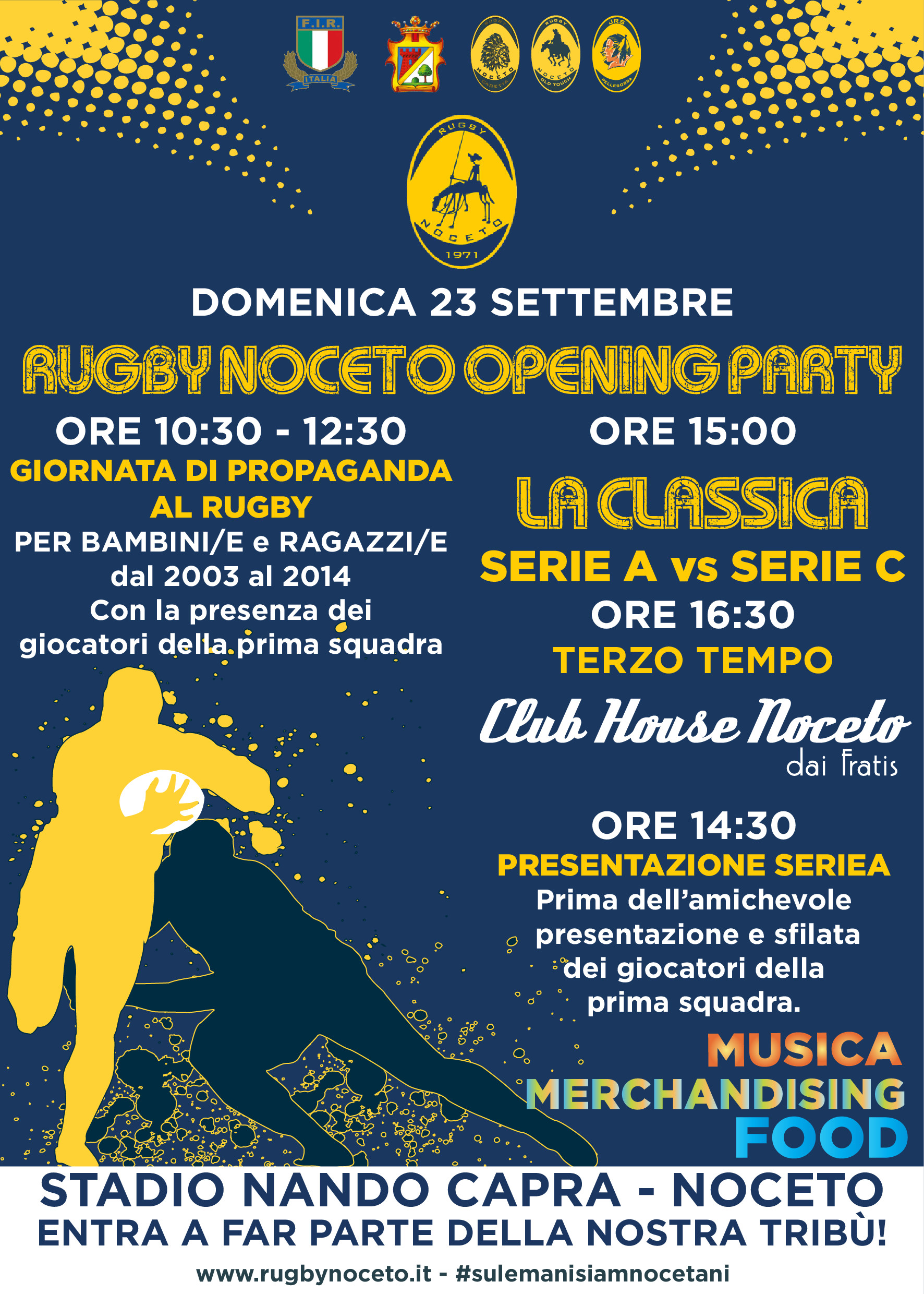 Rugby Noceto: Opening Party 2018