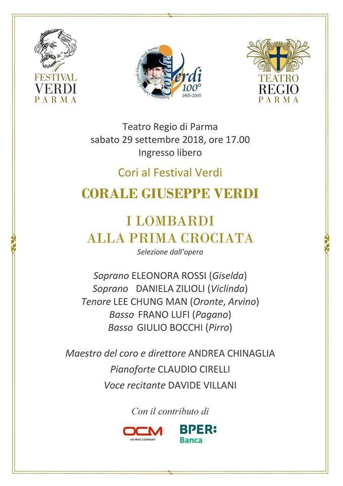 Cori al festival Verdi: Corale Giuseppe Verdi