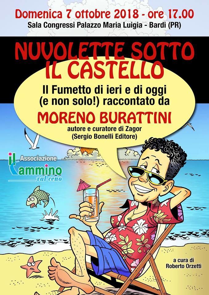 """""""Nuvolette sotto il castello"""", incontro col fumettista Moreno Burattini"""