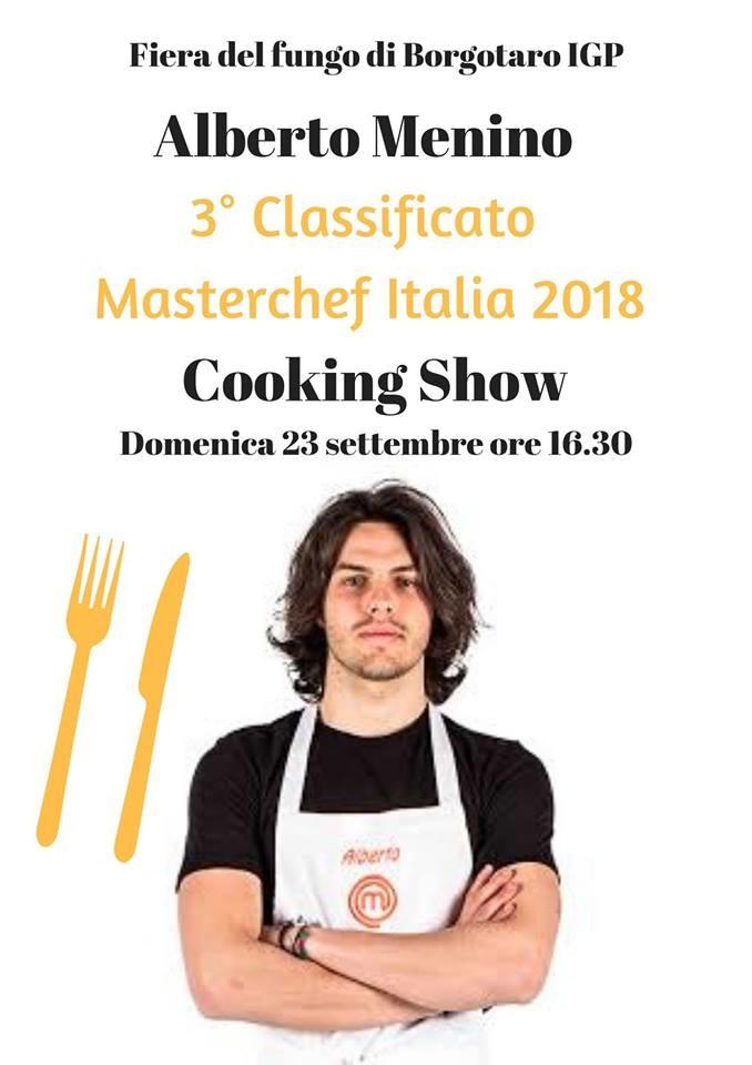 Fiera del fungo di Borgotaro,   cooking show di Alberto Menino