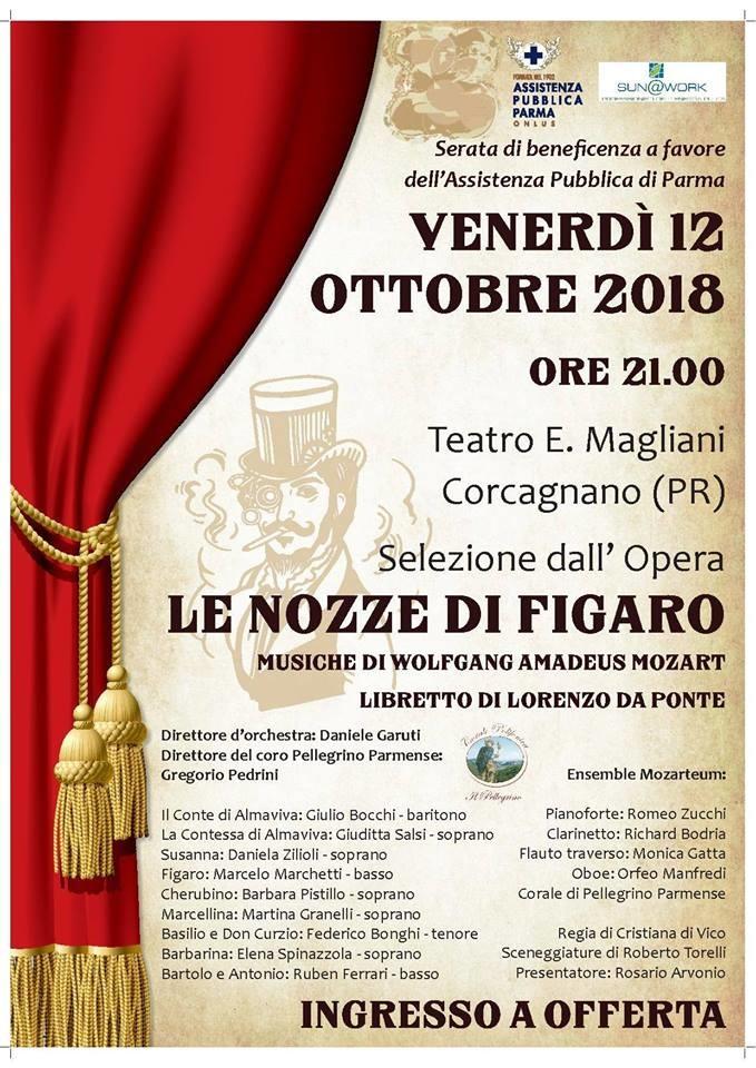 Le nozze di Figaro al teatro Ennio Magliani