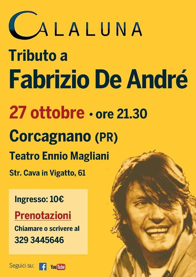 Calaluna - tributo a Fabrizio De André al teatro Ennio Magliani