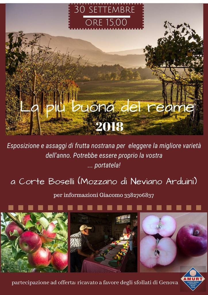 La più buona del reame, esposizione e assaggio di frutti nostrani proposto da associazione Amurt