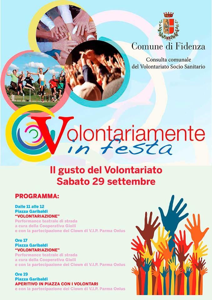 VOLONTARIAMENTE IN FESTA - Il GUSTO DEL VOLONTARIATO a Fidenza