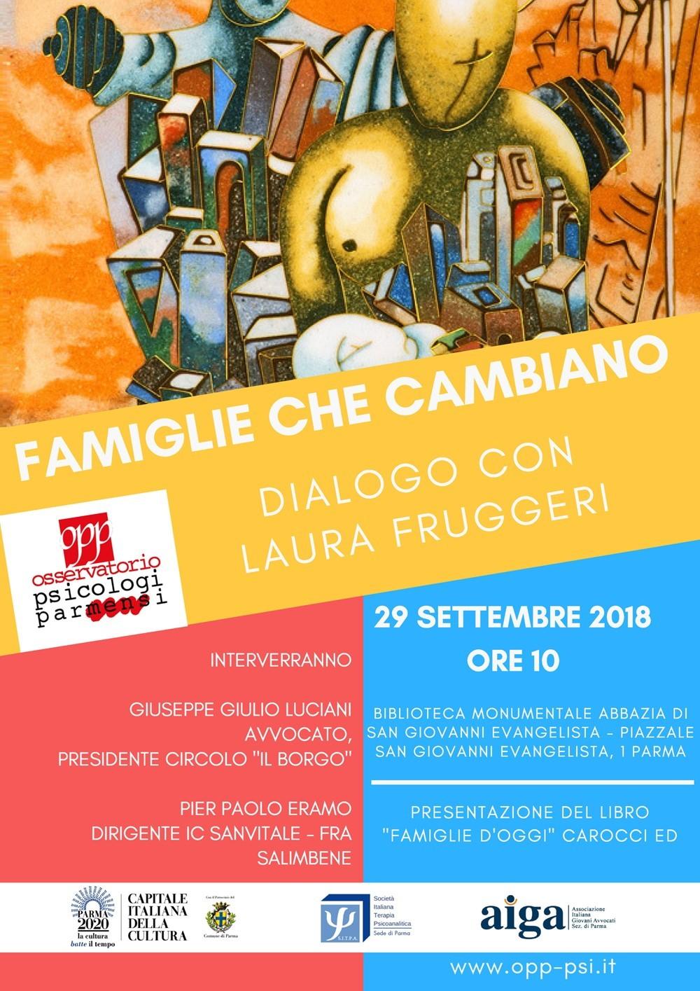 Famiglie che cambiano Il 29 settembre l'evento organizzato dall'Osservatorio Psicologi Parmensi